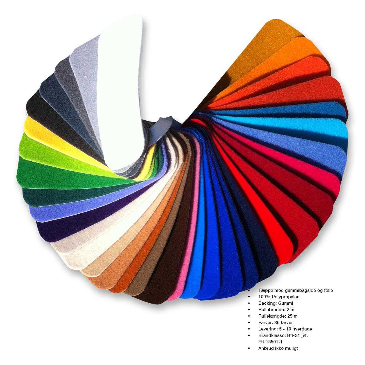 Bolo Gum findes i 36 farver med gummibagside og beskyttelsesfolie. Ring så sender vi en prøve.